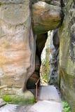 Sandsteinfelsen bei Prachov Lizenzfreies Stockbild
