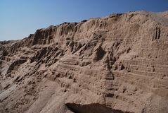 Sandsteinfelsenanordnung Stockbild