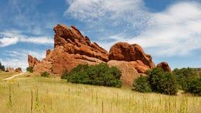 Sandsteinformation im Roxborough-Nationalpark lizenzfreie stockfotos