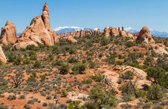 Sandsteinformation in Utah Stockfoto