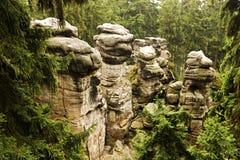 Sandsteinformationen Stockbilder
