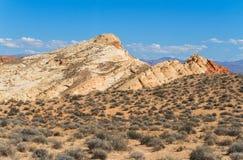 Sandsteinformationen in der Wüste Lizenzfreies Stockbild