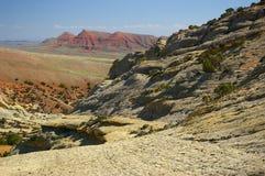 Sandsteinklippen in Wyoming Stockfotos