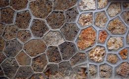 Sandsteinmaurerarbeitbeschaffenheit Stockbild