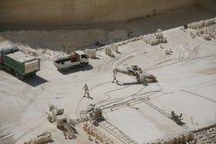 Sandsteinsteinbruch auf Malta stockfoto