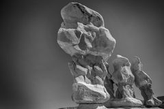 Sandsteinunglücksboten an Teufel ` s arbeiten nahe Escalante Utah im Garten Lizenzfreies Stockfoto