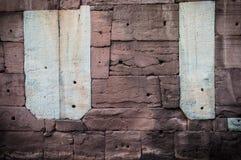 Sandsteinwand Stockfotos