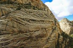 Sandsteinwand Stockbild