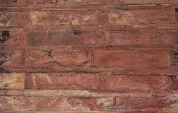 Sandsteinwand des alten Forts stockfotos
