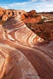 sandsten för rock för ökenbildandemojave arkivbild