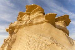 Sandsten i öknen Arkivfoton