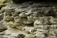 Sandsten i saxony Schweiz arkivbild