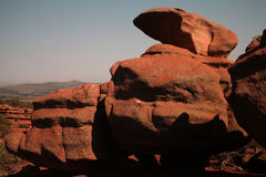 Sandsten vaggar royaltyfria foton