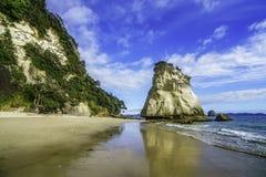 Sandsten vaggar monoliten, domkyrkalilla viken, coromandel, Nya Zeeland 41 Fotografering för Bildbyråer