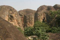 Sandstenberg i Ghana royaltyfri fotografi