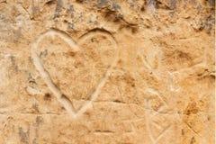Sandstenhjärta Arkivfoto