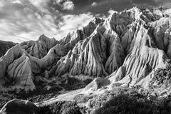 Sandstenklippor som bildar konstiga former och texturer Arkivbild