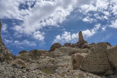 Sandstenklipporna av det bamiyan landskapet för Afghanistan ` s Arkivfoton