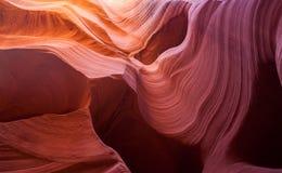 Sandstenmodell i lägre antilopkanjon, sida, Arizona Arkivbilder