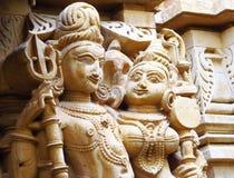 Sandstenskulpturer av folk i Indien Fotografering för Bildbyråer