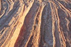 Sandstenslutet upp r?tt vaggar royaltyfri bild