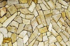 Sandstentegelstenväggen texturerar Arkivfoton