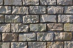 Sandstenvägg, textur, bakgrund Royaltyfri Foto