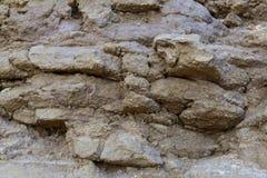 Sandstenväggen, kan användas som bakgrund arkivfoto