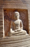Sandstobe Buddha sculpture Royalty Free Stock Images