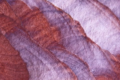 Sandstone. A beautifully coloured sandstone rock stock photo