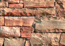 Sandstone 2. Close up of patterned sandstone blocks Royalty Free Stock Image