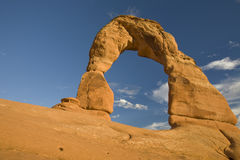 Sandstone arch. A beautiful natural rock formation in Moab, Utah Royalty Free Stock Photos