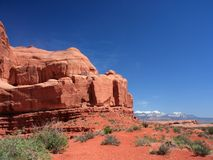 Sandstone in Arches National Park, Utah Royalty Free Stock Photo
