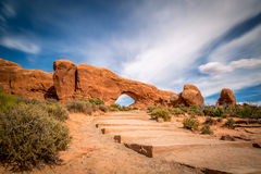 Sandstone arches and natural structures Royalty Free Stock Images