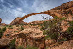 Sandstone arches and natural structures Royalty Free Stock Image
