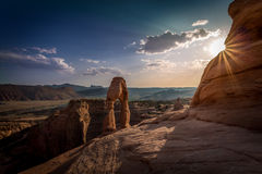 Sandstone arches and natural structures Royalty Free Stock Photography