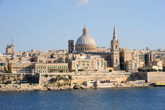 The sandstone architecture of Valetta, Malta. Stock Photography