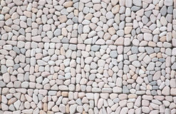 Sandstone arranged on the wall. Stock Images