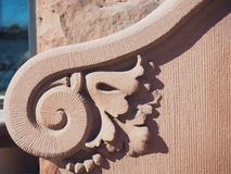 Sandstone Art-Deco Carving Tendril Stock Images