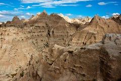 Sandstone in Badlands, South Dakota Stock Photo