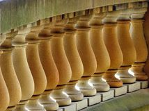 Sandstone Balustrade Royalty Free Stock Photos