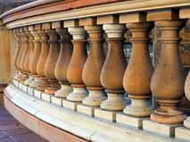 Sandstone Balustrade. Receding carved sandstone balustrade on a heritage building Stock Images