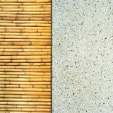 Sandstone and bamboo texture Royalty Free Stock Photos