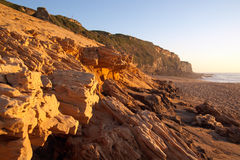 Sandstone beach Royalty Free Stock Images