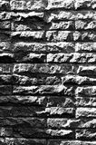 Sandstone block walls. Sandstone block walls, black and white photo Stock Photo