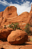 Sandstone Boulder Arches National Park Royalty Free Stock Images