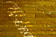 Sandstone brick background Royalty Free Stock Images