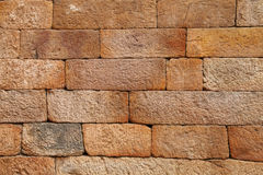 Sandstone brick pattern on the wall of Qutub Minar stock images