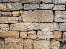 Sandstone brick wall Royalty Free Stock Images