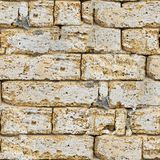 Sandstone Brick Wall Seamless. Royalty Free Stock Photography